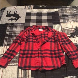 Boys button down flannel